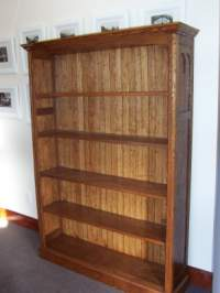 Recycled oak bookshelves